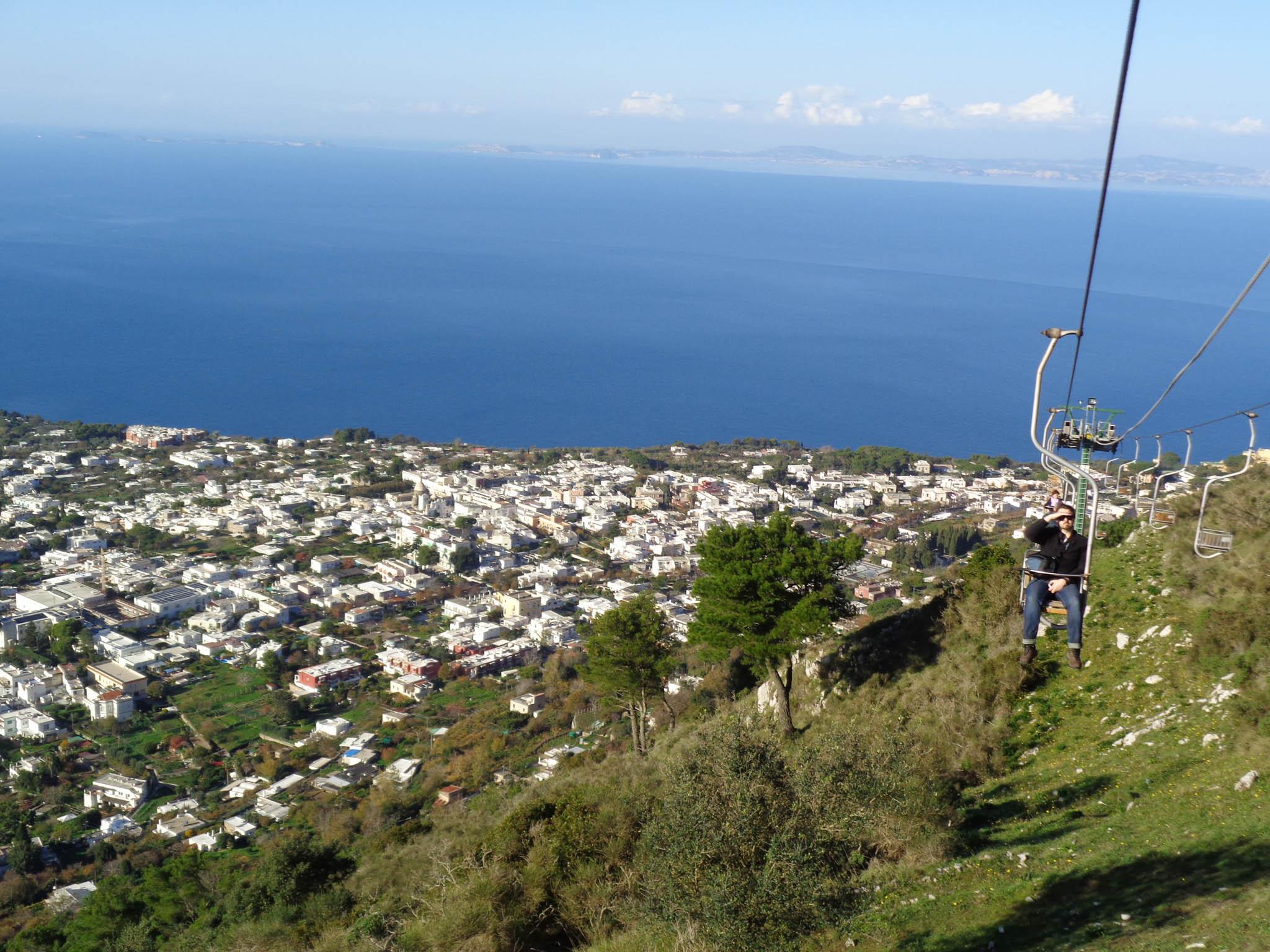 chairlift capri italy